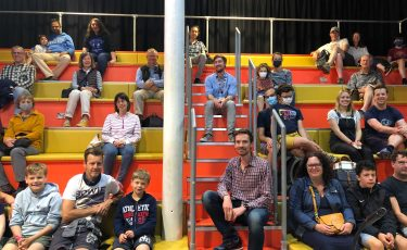 Photo of audience at Bristol Open Doors event at Engine Shed
